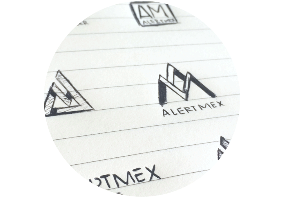boceto logotipo alertmex